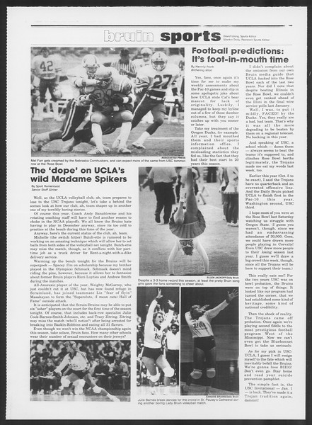 Daily Trojan, Vol. 97, No. 53, November 16, 1984