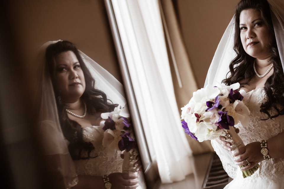 Wedding Reflection Portrait