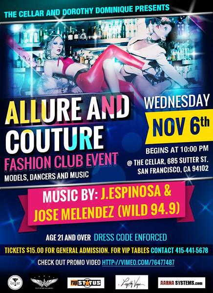 Allure & Couture @ The Cellar 11.6.13