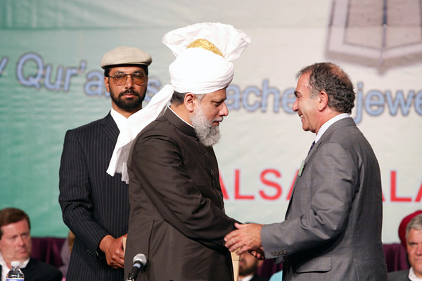 Greeting dignitaries