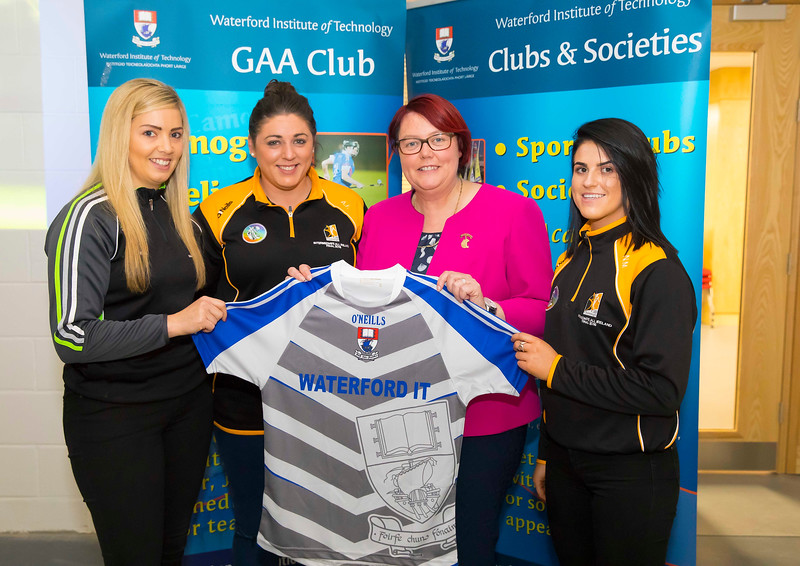 WIT holds event to honour 2016 All Ireland medal winning students. Pictured with President of the Camogie Association Catherine Neary are Keeva Fennelly, Aine Fahy (capt) and Noelle Maher of the Kilkenny Intermediate Camogie team. Picture: Patrick Browne  Waterford Institute of Technology's presence and influence across Gaelic Games at a national level in 2016 has been very noticeable. In total there are 32 past and present WIT students on the respective playing panels that won All Ireland medals in 2016 and a further 4 members on the backroom management teams.   To honour this huge achievement, WIT GAA Club is paying tribute to these 36 past members on securing these prestigious national titles on Monday 3 October, 6.30pm at the WIT Arena.   Along with the players, the prestigious cups, including the All Ireland Senior Hurling Cup- Liam McCarthy, the All Ireland Senior Camogie Cup- O'Duffy, The All Ireland Minor Cup and the All Ireland Under 21 Hurling Cup- James Nowlan, will be on show on the night.
