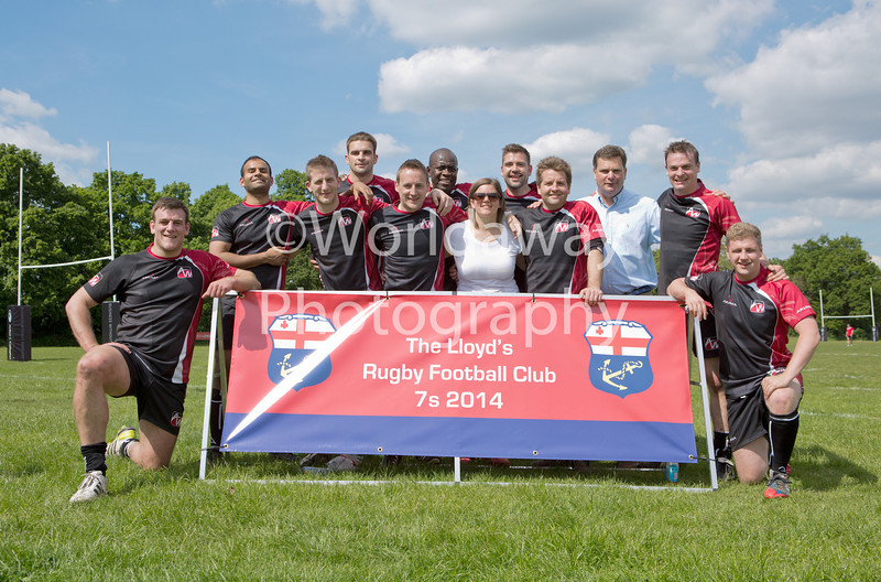 Lloyd's Rugby 7's Tournament. Richmond Athletic Ground. 15th May 2014. Team: Allied World
