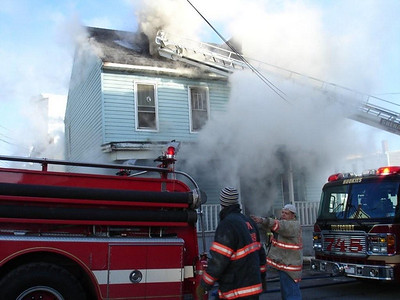 SHENANDOAH BOROUGH STRUCTURE FIRE 1-23-2008 PICTURES FROM THE POLISH AMERICAN FIRE COMPANY WEBSITE