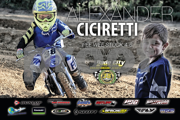 Dade City MX 2017 Rider Posters