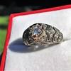 0.94ctw Vintage Old European Cut Diamond Dome Ring, Center OEC (GIA .59ct G SI2) 28