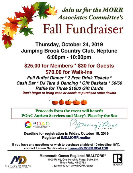 Fall Fund Raiser 2019