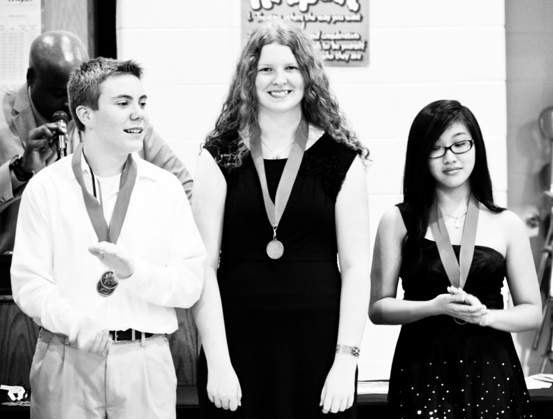 "Abigail wearing her ""A & B Honor Roll"" medal - May 2011"