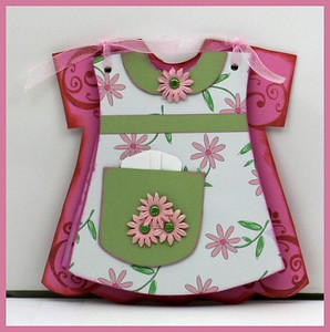 Pink, Green & Brown Mini Dress Altered Album