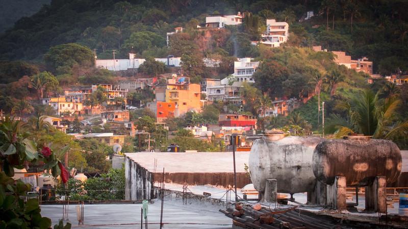 Old Puerto Vallarta in the golden light of Christmas Eve.  Sweet!