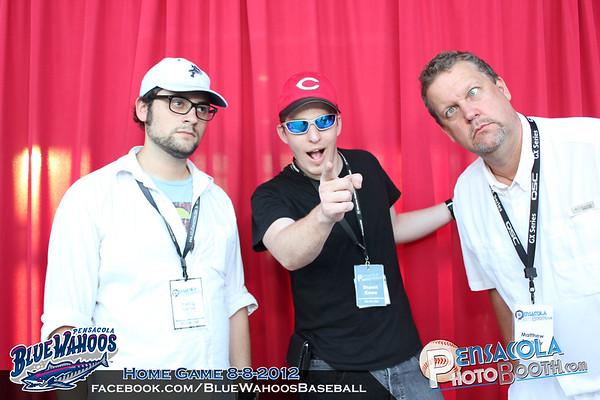 Pensacola Blue Wahoos Host Pensacola Photo Booth Home Game 8-8-2012 - Single Photos