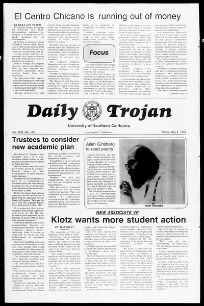 Daily Trojan, Vol. 66, No. 119, May 03, 1974