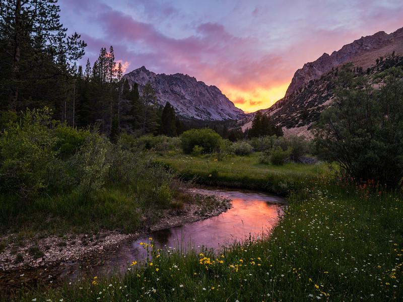 Sunset, North Fork Bishop Creek