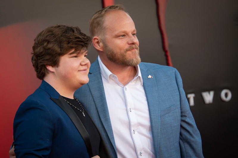 "WESTWOOD, CA - AUGUST 26: Jeremy Ray Taylor and Brandon Crane attend the Premiere Of Warner Bros. Pictures' ""It Chapter Two"" at Regency Village Theatre on Monday, August 26, 2019 in Westwood, California. (Photo by Tom Sorensen/Moovieboy Pictures)"