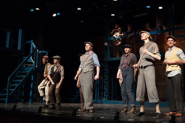 Act 1 Newsies Square Carrying The Banner