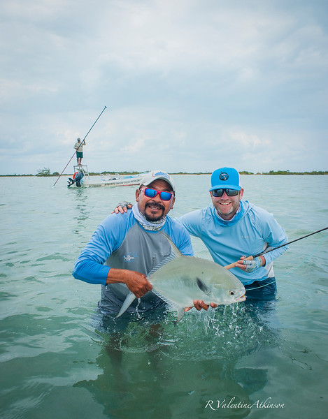 fishing guides at palometa club, ascension bay, mexico. Permit fishing lodge.