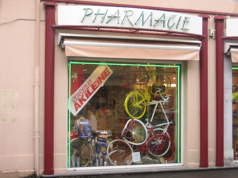 There were bike displays in nearly every store window