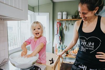Renate Making Sourdough Bread