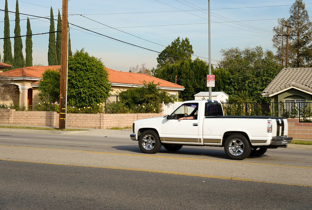 . Current view of Balboa Boulevard north of Rinaldi Street in Granada Hills. (Photo by Michael Owen Baker/L.A. Daily News)