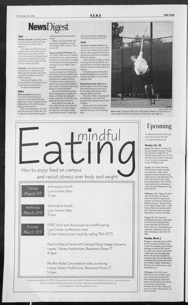 Daily Trojan, Vol. 154, No. 31, February 28, 2005