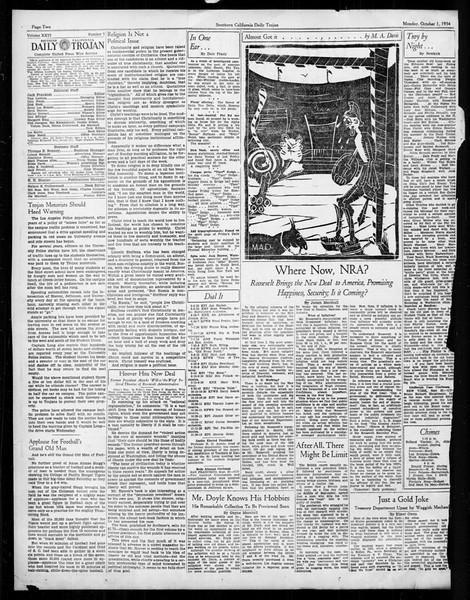 Daily Trojan, Vol. 26, No. 7, October 01, 1934