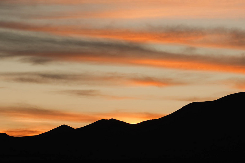 yes, there are no birds in this image, but the sunset skies of New Mexico are well known for their own beauty.
