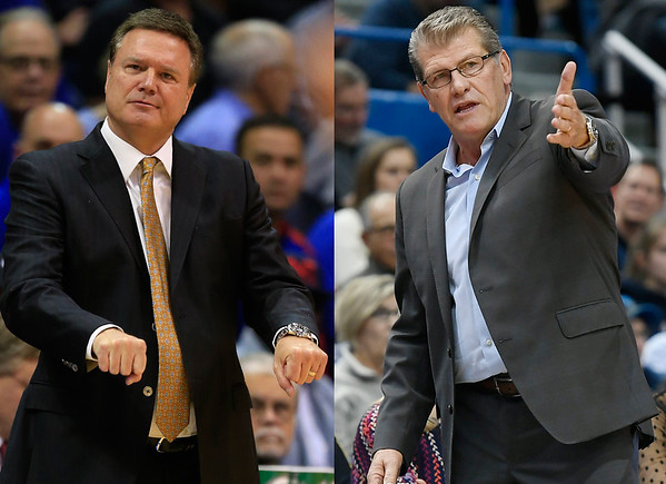 Bill Self and Geno Auriemma