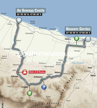 Tour of Oman Stage 1: As Suwayq Castle > Naseem Garden, 164kms