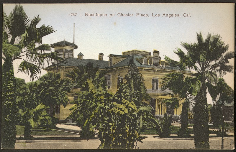 1767. Residence on Chester Place, Los Angeles, California.