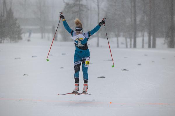 Hiihtosuunnistus SM-sprinttiviesti 6.3.2021