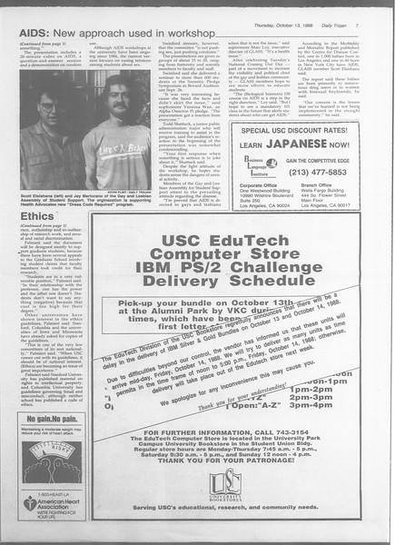 Daily Trojan, Vol. 107, No. 27, October 13, 1988