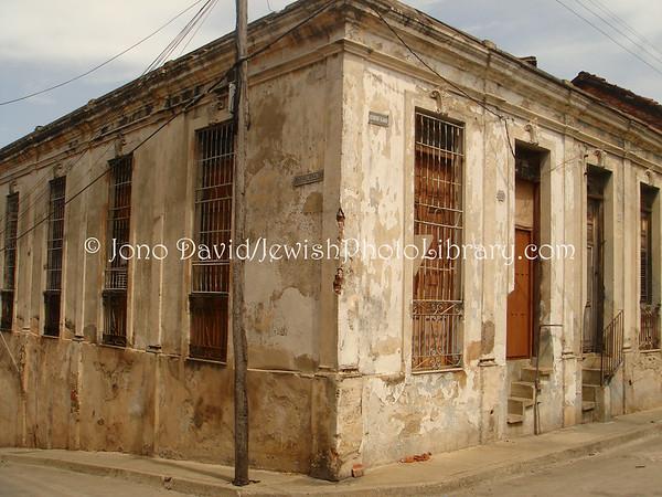 CUBA, Santiago de Cuba. Former residence of the rabbi. (2008)