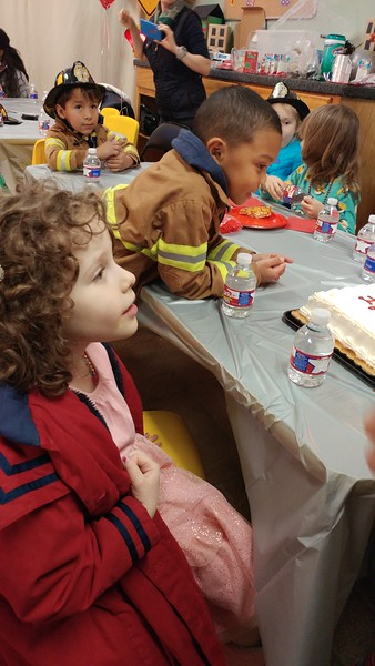 Birthday party for classmate Ivan at the Houston Fire Museum