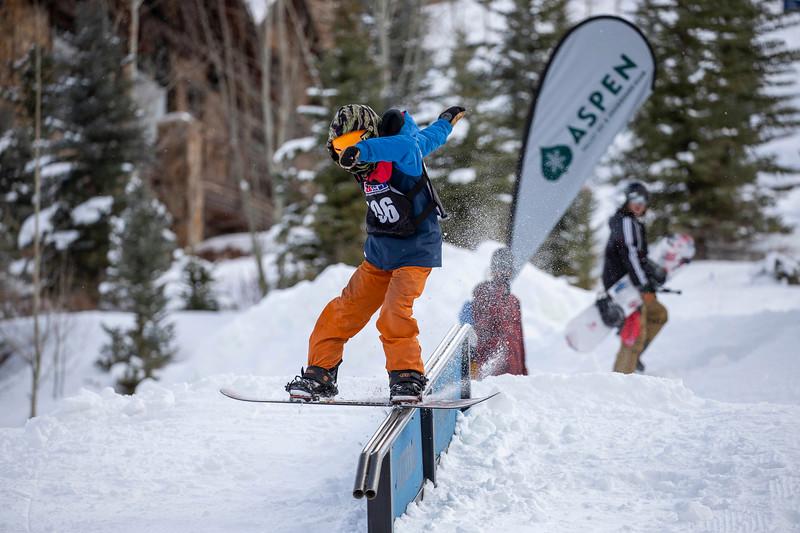 December 8, 2018  Aspen Highlands  Bob Beattie Event  Rail Jam and Slalom Relay Race  @mattpower