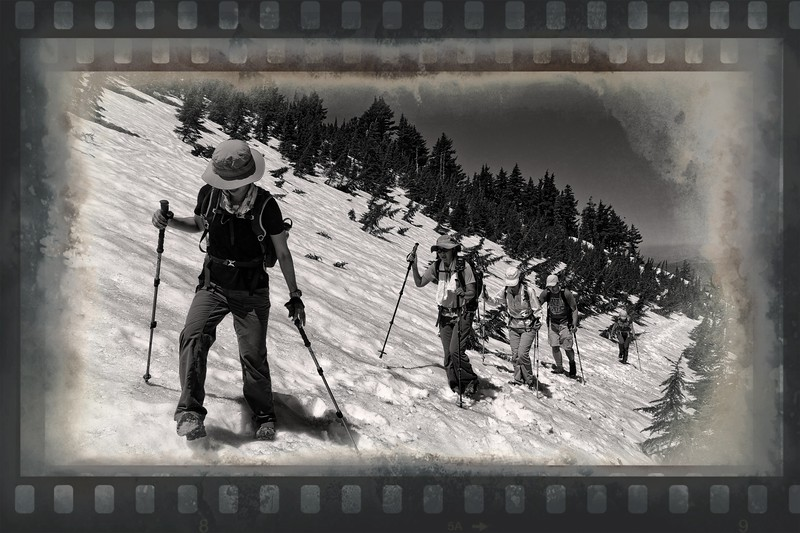 On Vista Ridge in Black & White!