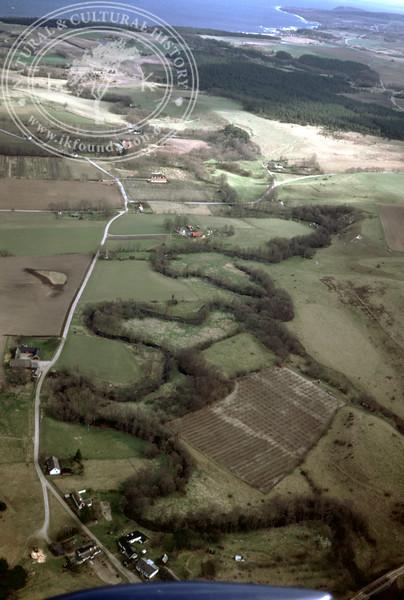 Klammersbäck downstream towards Hanöbukten (2 April, 1989). | LH.0428