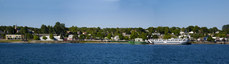 Wide view of our St. ignace moorage