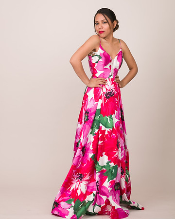 Floral Gown Standing