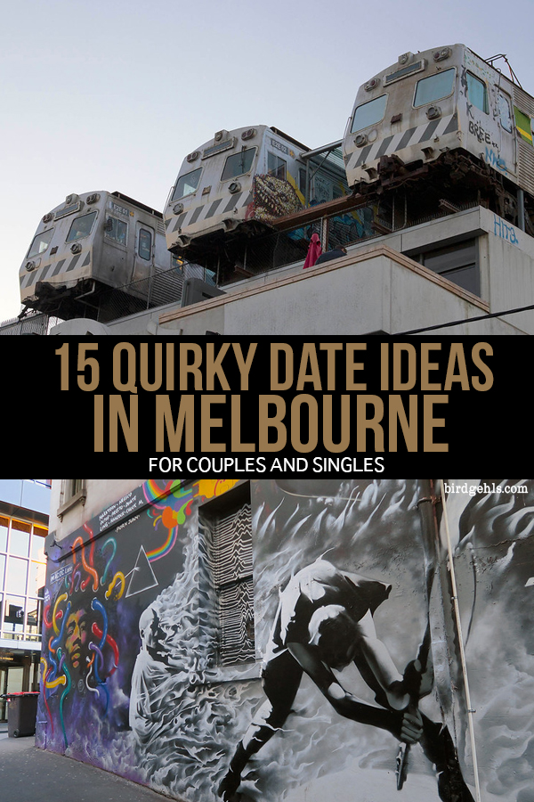 When it comes to dating, are you a bit bored of the old dinner and drinks routine? These 16 quirky date ideas in #Melbourne will make your next date out a success (or if the company is no good, at least you'll have fun). /  Things to do in Melbourne / Date Ideas Melbourne / Unusual Things to do in Melbourne /