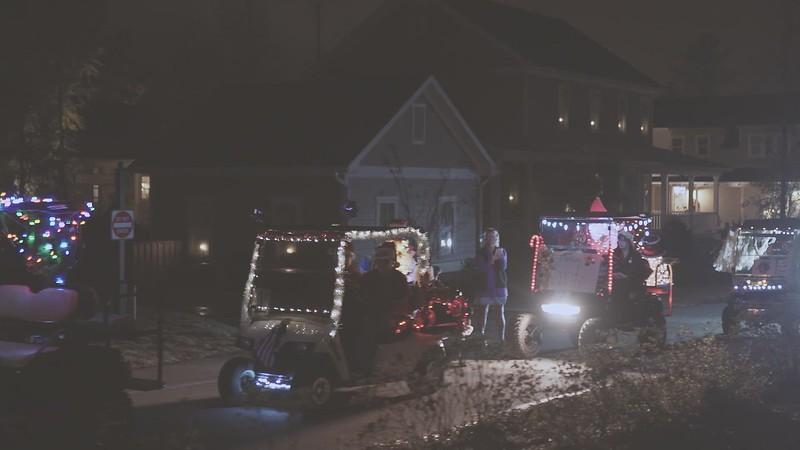 River Bluffs 2018 Golf Cart Christmas Parade