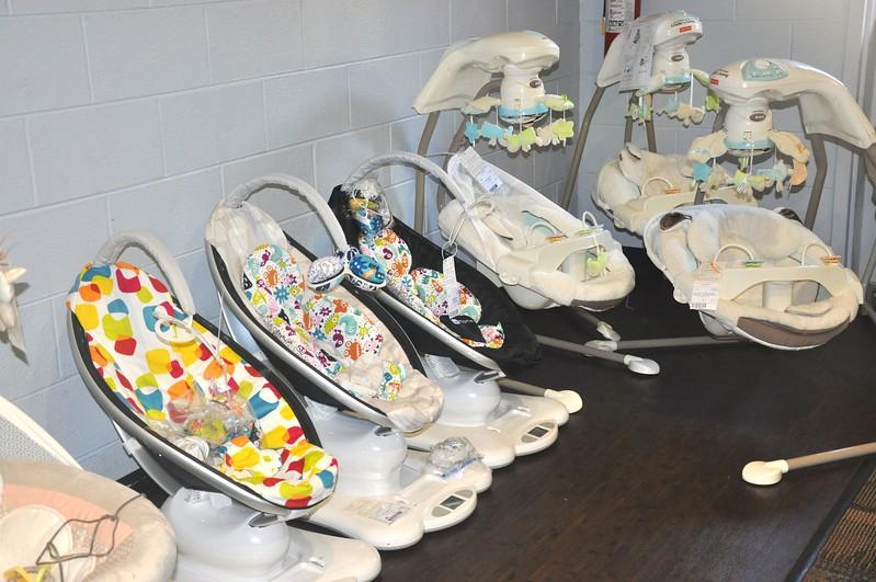 Row of Baby Swings