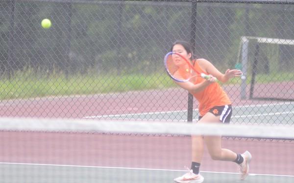 Lee girls tennis hosts Frontier in Western Mass. D-III tournament