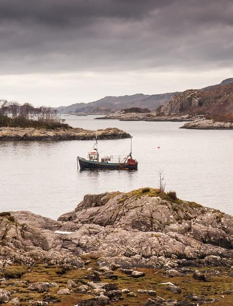 Fishing boat at Loch nan Uamh
