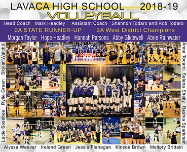 Lavaca Volleyball 2018