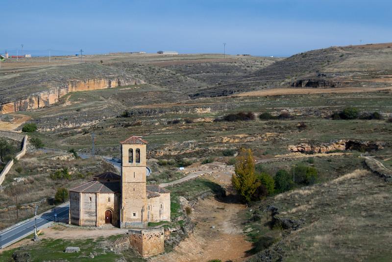 Iglesia Vera Cruz (Church of the True Cross) from the Alcazar