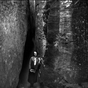 Fatman squeeze, this is a passageway still there today that you must walk through.  Picture taken in the mid to late 1950's.