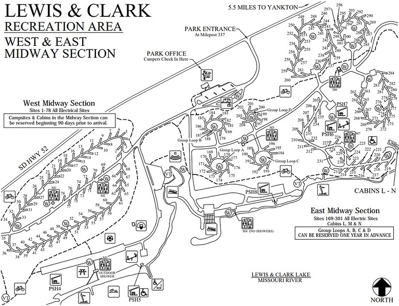 Lewis and Clark Recreation Area (Midway Section)