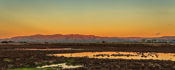 Baylands Sunset & Rising Full Moon