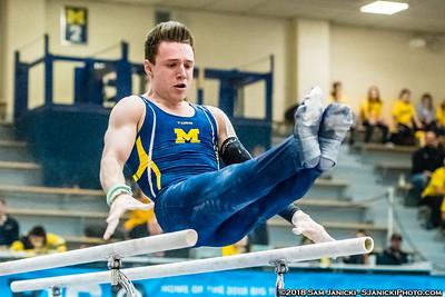 Parallel Bars - Michigan Men's Gymnastics Vs Penn State 3-24-18