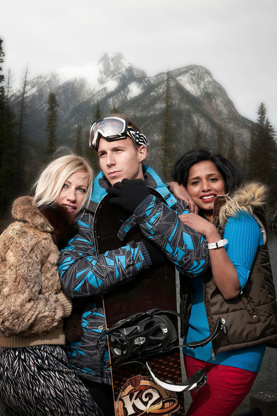 Winter model  Photo shoot @ Mt Lorette Kananaskis