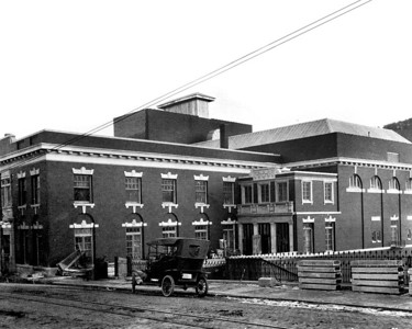 This is the way the opera house looked shortly after it was constructed in 1914.  Seventy years later, in 1984, the theater portion of the structure was nearly destroyed by fire and it sat dormant for 11 years.